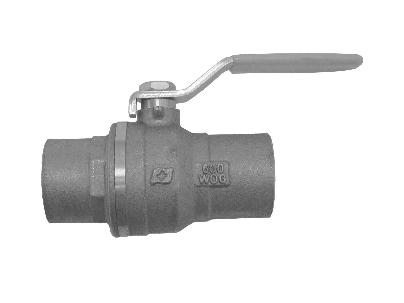 "1"" SWEAT ENDS FULL PORT BRASS BALL VALVE"