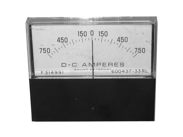 GENERAL ELECTRIC AMP METER 600437-33RL