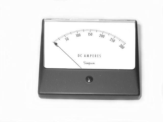 simpson amp meter model sim 1329 02950 range 0 300 amperes. Black Bedroom Furniture Sets. Home Design Ideas