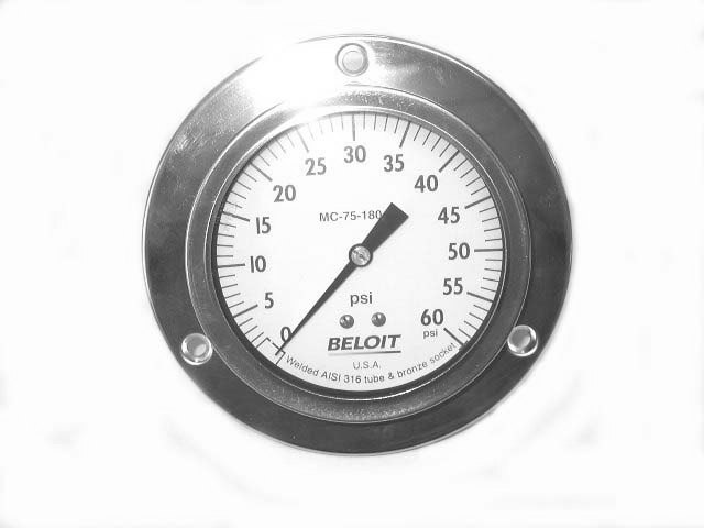 BELOIT PRESSURE GAUGE MC-75-180-2