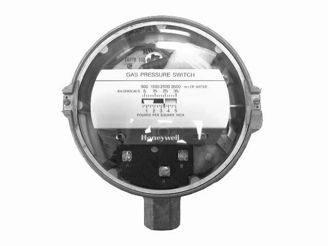 HONEYWELL GAS PRESSURE SWITCH - C637B-1028