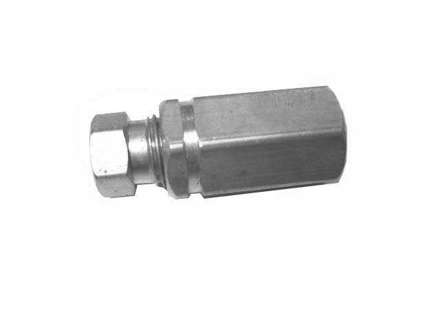 "1/4"" TUBE FEMALE BRASS COUPLING"