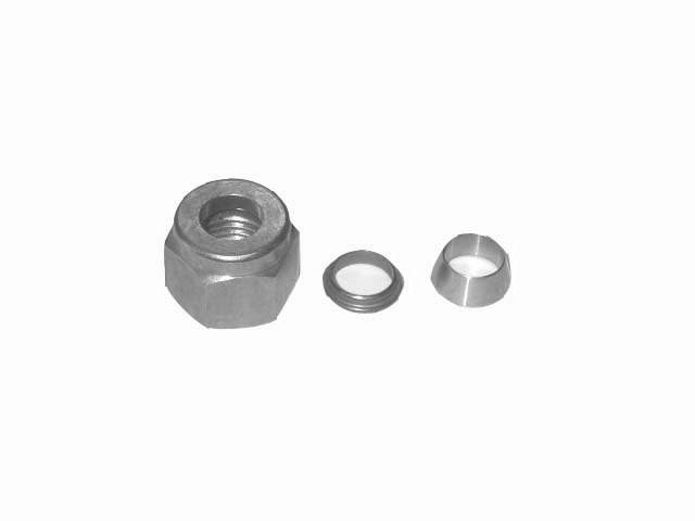 "3/16"" SS  COMPRESSION NUT - DOUBLE-SLEEVED"