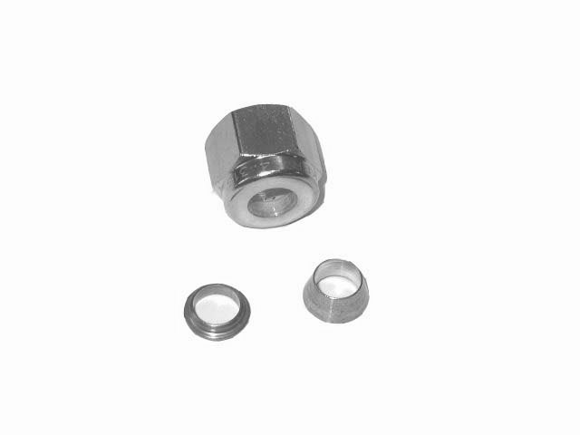 "1/4"" SS COMPRESSION NUT - DOUBLE-SLEEVED"