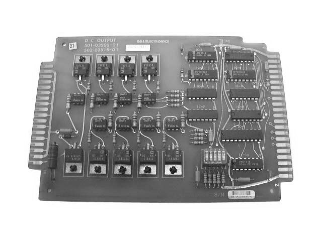 Numeripoint M400 DC Output Board - Part no. 502-02815-00 (501-03