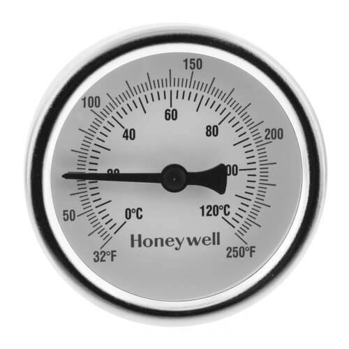 "HONEYWELL GS250 1/2"" SWEAT CONNECTION THERMOMETER"